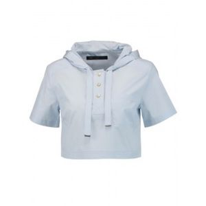 Marc by Marc Jacob blue cropped hoodie top